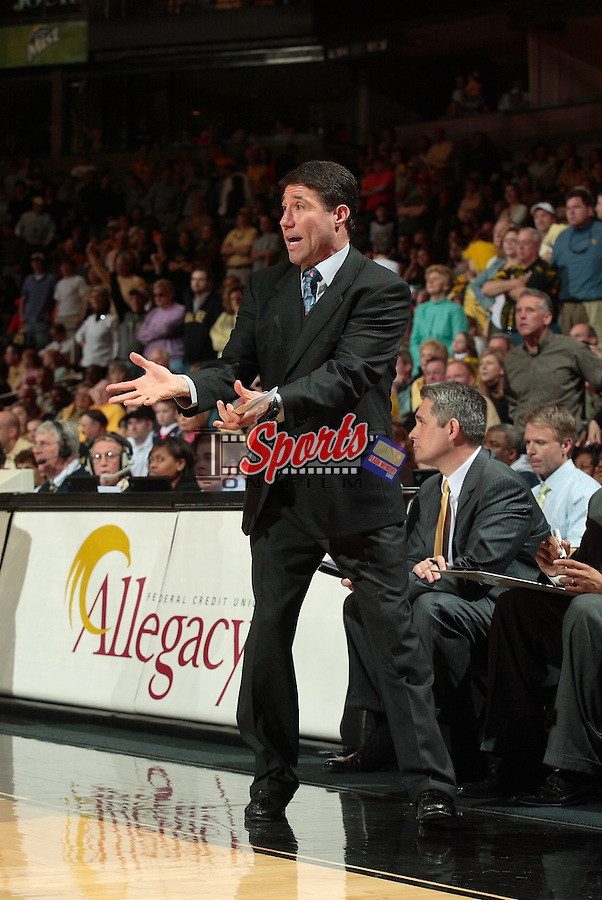 The Demon Deacons defeated the Virginia Cavaliers 78-72 at the LJVM Coliseum in Winston-Salem, NC, Saturday, March 3, 2007