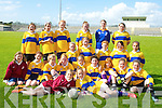 DEFEATED: The Ardfert girls football team from Ardfert NS who were beaten in the Cumann na mBunsco in the Urban Shield Football Final in Austin Stack Park on Wednesday by Presentation Girls Listowel Football team, by 1-5 to 1-4. Front l-r: Clodagh Thompson and Chloe Davis. 2nd row l-r: Clodagh O'Hara Emily Barrett, Victoria Murphy, Jane Sweeney, Lauren O'Grady,Lara Perry, Katie Daly, Nessa McGarty and Sally O'Mahony. Back l-r: Michaela McCarthy, Ciara Jeffers, maeve Pierce,Norrette Casey, Shelly Stack, Kate Auistin-O'Sullivan, Muireann O'Mahony, kate McCarthy, Angie McElligott, Emma Lawlor and Riadhj Malik.