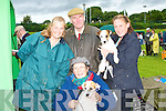 TERRIERS: Entering their (Parson Russell Terriers) in the International Dog Show at The Riocht Athletics Grounds Castleisland on Saturday. Were: Nita McGuinness,Karen Rimmer,Doug McGuinness and Jackie Adderley, (Brosna)..