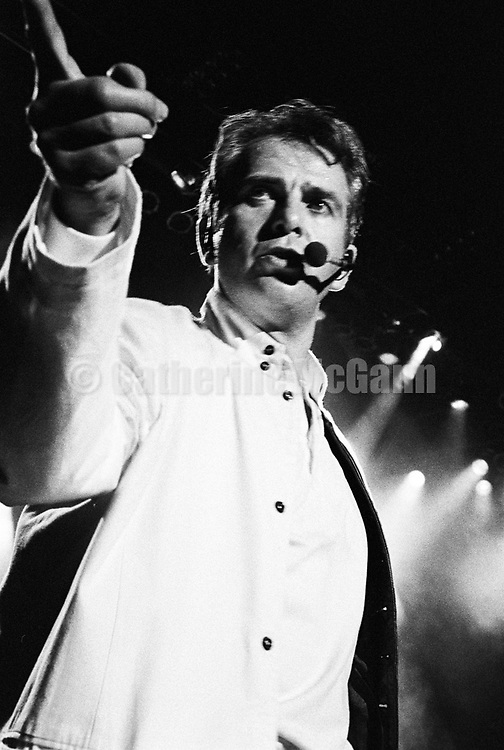 SARATOGA SPRINGS, NY - SEPTEMBER 6:  English musician Peter Gabriel performs at the WOMAD Festival at the Saratoga Performing Arts Center on September 6, 1993 in Saratoga Springs, New York.  (Photo by Catherine McGann).Copyright 2010 Catherine McGann