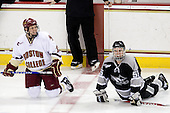 Cam Atkinson (BC - 13), Daniel New (Providence - 55) - The Boston College Eagles defeated the Providence College Friars 4-1 on Tuesday, January 12, 2010, at Conte Forum in Chestnut Hill, Massachusetts.