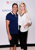 NEW YORK, NY - MAY 21, 2014: Olympic Medalist Ryan Lochte and Model Ireland Baldwin Visit Macy's Herald Square In New York,NYC, May 21, 2014 New York,NYC   © HP/Starlitepics.
