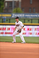 ***Temporary Unedited Reference File***Nashville Sounds second baseman Joey Wendle (13) during a game against the Iowa Cubs on May 4, 2016 at First Tennessee Park in Nashville, Tennessee.  Iowa defeated Nashville 8-4.  (Mike Janes/Four Seam Images)