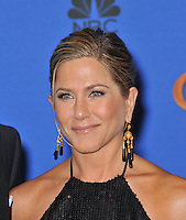 Jennifer Aniston at the 72nd Annual Golden Globe Awards at the Beverly Hilton Hotel, Beverly Hills.<br /> January 11, 2015  Beverly Hills, CA<br /> Picture: Paul Smith / Featureflash