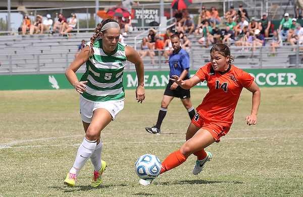 DENTON, TX - AUGUST 24: Jackie Moreau - North Texas Mean Green Soccer v Oregon State at the North Texas Soccer Complex in Denton on August 23, 2014 in Denton, Texas.  (Photo by Rick Yeatts)