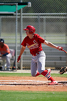 GCL Cardinals Patrick Romeri (16) at bat during a Gulf Coast League game against the GCL Astros on August 11, 2019 at Roger Dean Stadium Complex in Jupiter, Florida.  GCL Cardinals defeated the GCL Astros 2-1.  (Mike Janes/Four Seam Images)