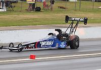 May 5, 2018; Commerce, GA, USA; NHRA top fuel driver Blake Alexander during qualifying for the Southern Nationals at Atlanta Dragway. Mandatory Credit: Mark J. Rebilas-USA TODAY Sports