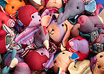 Soft Toys 02 - Pile of soft toys at a market stall in Siem Reap, Cambodia