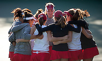 STANFORD, CA - January 26, 2011: Stanford women's tennis team before their match against UC Davis. Stanford won 7-0 overall.