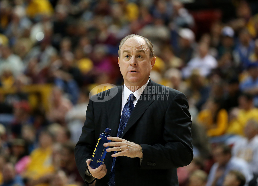 Jan. 26, 2013; Tempe, AZ, USA: UCLA Bruins head coach Ben Howland against the Arizona State Sun Devils at the Wells Fargo Arena. Mandatory Credit: Mark J. Rebilas-USA TODAY Sports