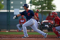 Cleveland Indians Juan Garcia (44) during an instructional league game against the Cincinnati Reds on October 17, 2015 at the Goodyear Ballpark Complex in Goodyear, Arizona.  (Mike Janes/Four Seam Images)