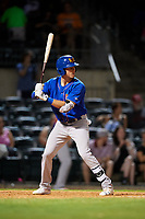Midland RockHounds right fielder Tyler Marincov (15) at bat during a game against the Arkansas Travelers on May 25, 2017 at Dickey-Stephens Park in Little Rock, Arkansas.  Midland defeated Arkansas 8-1.  (Mike Janes/Four Seam Images)