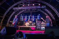 The Fratellis perform at AmpRocks 2016 at Ampthill Great Park, Ampthill, England on 1 July 2016. Photo by David Horn.