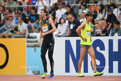 (L to R) Bohdan Bondarenko (UKR), Naoto Tobe, MAY 10, 2015 - Athletics : IAAF World Challenge Seiko Golden Grand Prix in Kawasaki, Men's High Jump at Todoroki Stadium, Kanagawa, Japan. (Photo by YUTAKA/AFLO SPORT)