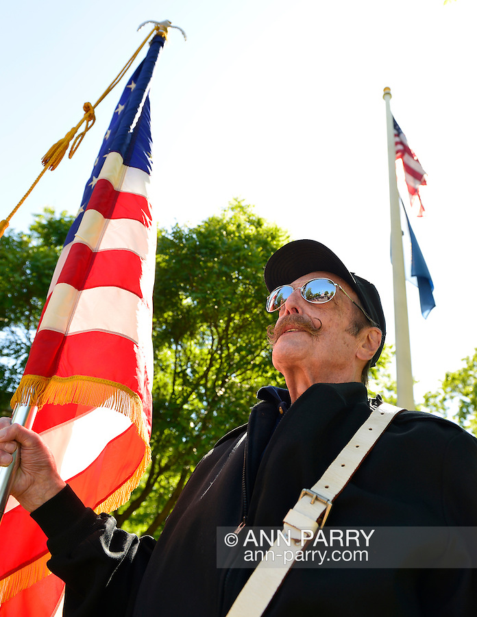 Merrick, New York, USA. 27th May 2013. Community organization members march in the Annual Memorial Day Parade 2013, hosted by American Legion Merrick Post No. 1282, with ceremony at Merrick Veteran Memorial Park.