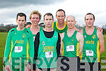 Kerry Athletes who competed in the Senior Men's race at the Munster Cross Country championships in Beaufort on Sunday l-r: James Doran, Arthur Fitzgerald, George McCarthy, Robert Purcell, Donal O'Callaghan and Darren Burke ........