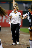 August 7, 2009:  White Sox promotion girls entertain and throw out shirts to the fans during a game for the Chicago White Sox vs. the Cleveland Indians at U.S. Cellular Field in Chicago, IL.  The Indians defeated the White Sox 6-2.  Photo By Mike Janes/Four Seam Images