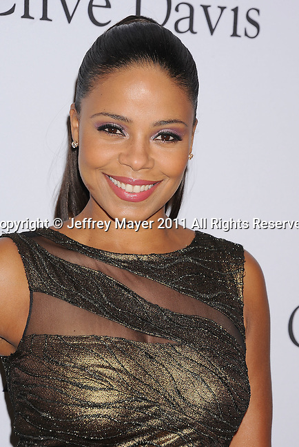 BEVERLY HILLS, CA - FEBRUARY 12: Sanaa Lathan arrives at the 2011 Pre-GRAMMY Gala and Salute To Industry Icons Honoring David Geffen at The Beverly Hilton Hotel on February 12, 2011 in Beverly Hills, California.
