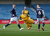 17th March 2019, The Den, London, England; The Emirates FA Cup, quarter final, Millwall versus Brighton and Hove Albion; Shaun Williams of Millwall heavy challenge on Beram Kayal of Brighton & Hove Albion