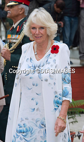 PRINCE CHARLES AND CAMILLA<br /> visit the Indian Military Academy in Dehradun, Uttrakhand_07/11/2013.<br /> During the visit Camilla observed various displays by the military horses.<br /> She also fed the horses with sugar cubes.<br /> Mandatory Credit Photo: &copy;Rooke/DIASIMAGES<br /> <br /> *No UK Sales Till 28/11/2013*<br /> <br /> **ALL FEES PAYABLE TO: &quot;NEWSPIX INTERNATIONAL&quot;**<br /> <br /> IMMEDIATE CONFIRMATION OF USAGE REQUIRED:<br /> Newspix International, 31 Chinnery Hill, Bishop's Stortford, ENGLAND CM23 3PS<br /> Tel:+441279 324672  ; Fax: +441279656877<br /> Mobile:  07775681153<br /> e-mail: info@newspixinternational.co.uk