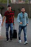 Manchester United's Juan Mata arrives at Soccer City training facility for a Spanish soccer team concentration meeting in Las Rozas, near Madrid, Spain. September  01, 2015. (ALTERPHOTOS/Victor Blanco)