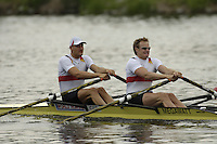 Poznan, POLAND.  2006, FISA, Rowing, World Cup, GER M2X, bow,Rene BERTRAM and Robert SENS, move  away from  the  start, on the Malta  Lake. Regatta Course, Poznan, Thurs. 15.05.2006. © Peter Spurrier   .[Mandatory Credit Peter Spurrier/ Intersport Images] Rowing Course:Malta Rowing Course, Poznan, POLAND