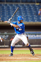 Ivan Wilson Jr. #44 of Ruston High School in Simsboro, Louisiana playing for the Kansas City Royals scout team during the East Coast Pro Showcase at Alliance Bank Stadium on August 1, 2012 in Syracuse, New York.  (Mike Janes/Four Seam Images)
