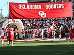 Oklahoma Sooners getting ready to come out onto the field before the game between the Ball State Cardinals  and the Oklahoma Sooners at the Oklahoma Memorial Stadium in Norman, Oklahoma. OU defeats Ball State 62 to 6.