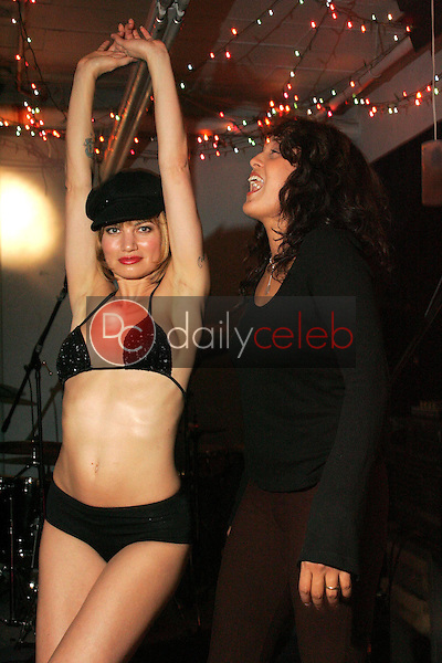 """Rena and Indrani<br />with dance troupe """"Femme Fatales"""" rehearse for their performance with Stereocell at the Viper Room on November 30th, Private Location, Los Angeles, CA. 11-28-05<br />Dave Edwards/DailyCeleb.com 818-249-4998"""