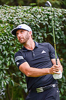 Dustin Johnson (USA) watches his tee shot on 17 during round 3 of the World Golf Championships, Mexico, Club De Golf Chapultepec, Mexico City, Mexico. 3/4/2017.<br /> Picture: Golffile | Ken Murray<br /> <br /> <br /> All photo usage must carry mandatory copyright credit (&copy; Golffile | Ken Murray)