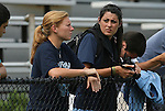 20 September 2009: Former UNC player Lori Chalupny (left) watches the game with Saint Louis Athletica (WPS) teammate Melissa Tancredi (CAN) (right). The University of North Carolina Tar Heels played the Auburn University Tigers to a 0-0 tie after overtime at Koskinen Stadium in Durham, North Carolina in an NCAA Division I Women's college soccer game.