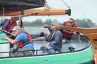 ZEILEN: HEEG: 06-08-2013, IFKS Skûtsjesilen, A klasse groot, Skûtsjeschipper Tony Brundel 'SKÛTSJE LYTSE' LIES, ©foto Martin de Jong