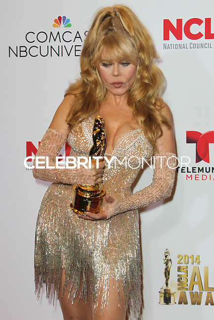 PASADENA, CA, USA - OCTOBER 10: Charo poses in the press room at the 2014 NCLR ALMA Awards held at the Pasadena Civic Auditorium on October 10, 2014 in Pasadena, California, United States. (Photo by Celebrity Monitor)