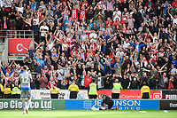 Lincoln City fans at the end of the game<br /> <br /> Photographer Chris Vaughan/CameraSport<br /> <br /> The EFL Sky Bet Championship - Rotherham United v Lincoln City - Saturday 10th August 2019 - New York Stadium - Rotherham<br /> <br /> World Copyright © 2019 CameraSport. All rights reserved. 43 Linden Ave. Countesthorpe. Leicester. England. LE8 5PG - Tel: +44 (0) 116 277 4147 - admin@camerasport.com - www.camerasport.com