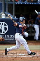 Hank LoForte #9 of the Cal State Fullerton Titans bats against the Stanford Cardinal at Goodwin Field on February 19, 2017 in Fullerton, California. Stanford defeated Cal State Fullerton, 8-7. (Larry Goren/Four Seam Images)