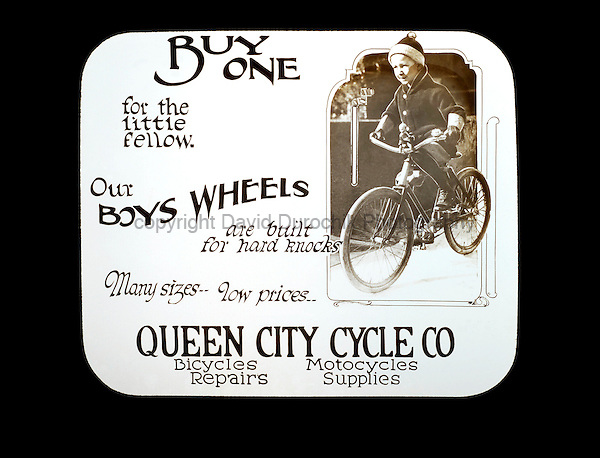 Early Magic Lantern Slide from the Queen City Cycle Co