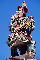 Schweiz, Kindlifresser-Brunnen am Kornhausplatz in Bern, Unesco-Weltkulturerbe