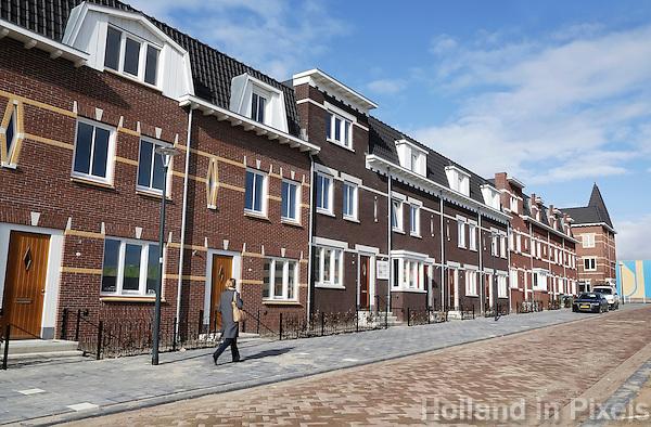 Nederland Nijmegen 2016 02 25. De Nono Wardenaarstraat bij het Honigcompex. Nieuwbouw in oude stijl.  Foto Berlinda van Dam / Hollandse Hoogte