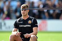 Ollie Devoto of Exeter Chiefs looks on during the pre-match warm-up. Gallagher Premiership match, between Exeter Chiefs and Leicester Tigers on September 1, 2018 at Sandy Park in Exeter, England. Photo by: Patrick Khachfe / JMP