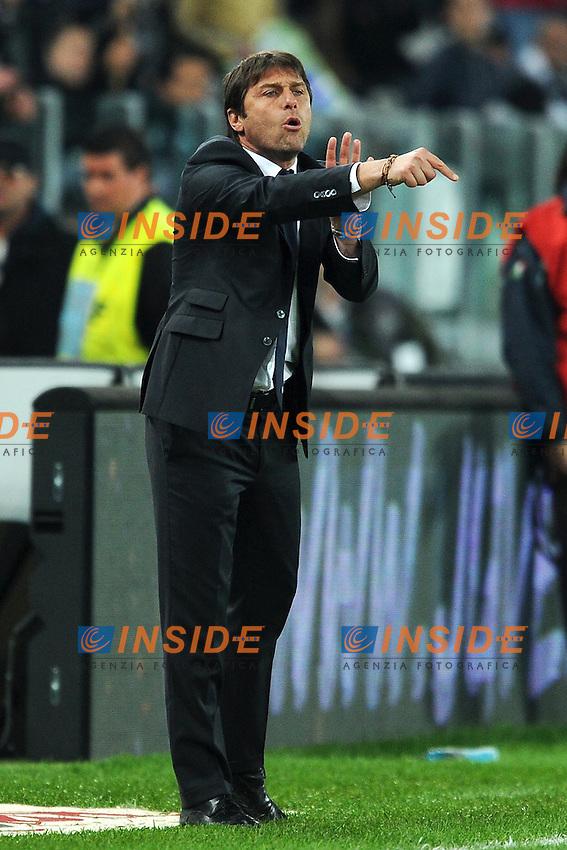 "Antonio Conte allenatore della Juventus.Torino 11/4/2012 Stadio ""Juventus Stadium"".Football Calcio 2011/2012 Campionato Italiano Serie A.Juventus Vs Lazio.Foto Insidefoto Andrea Staccioli"