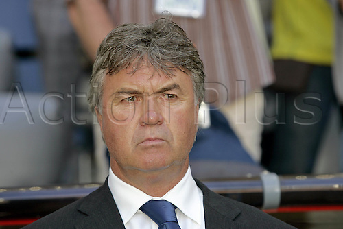 18 June 2006: Portrait of Australian coach Guus Hiddink before the Fifa World Cup Group F match between Brazil and Australia  played in Munich. Brazil won the game 2-0. Photo: Neil Tingle/actionplus...060616 football soccer manager coaches