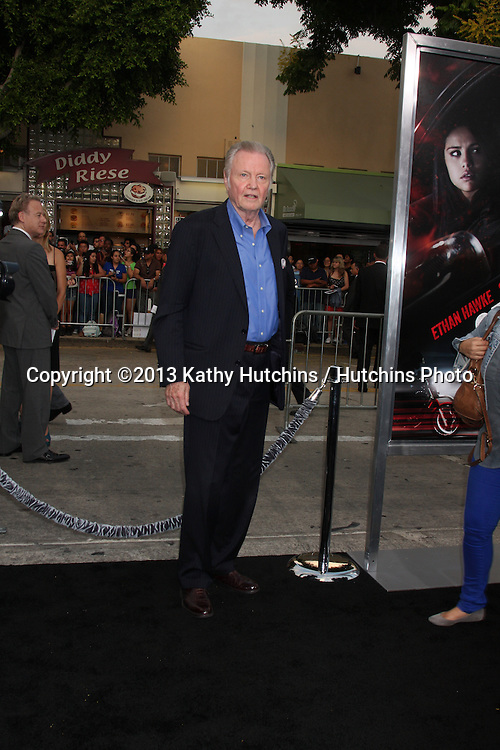 "LOS ANGELES - AUG 26:  Jon Voight at the ""Getaway"" Premiere at the Village Theater on August 26, 2013 in Westwood, CA"