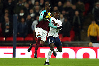 Pedro Obiang of West Ham United and / Victor Wanyama of Tottenham during Tottenham Hotspur vs West Ham United, Premier League Football at Wembley Stadium on 4th January 2018