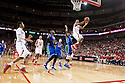 November 8, 2013: Benny Parker (3) of the Nebraska Cornhuskers with fast break lay up against the Florida Gulf Coast Eagles at the Pinnacle Bank Areana, Lincoln, NE. Nebraska defeated Florida Gulf Coast 79 to 55.
