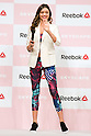 "Australian model Miranda Kerr greets to the audience during the Reebok Skyscape Fashion Show on April 15, 2015, Tokyo, Japan. Miranda Kerr, who is very popular in Japan, is the Reebok global ambassador for the new footwear line ""Skyscape"". Models Anne Nakamura, Tina Tamashiro and Funassyi, mascot of Funabashi city in Chiba, also attended the event. (Photo by Rodrigo Reyes Marin/AFLO)"