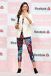 """Australian model Miranda Kerr greets to the audience during the Reebok Skyscape Fashion Show on April 15, 2015, Tokyo, Japan. Miranda Kerr, who is very popular in Japan, is the Reebok global ambassador for the new footwear line """"Skyscape"""". Models Anne Nakamura, Tina Tamashiro and Funassyi, mascot of Funabashi city in Chiba, also attended the event. (Photo by Rodrigo Reyes Marin/AFLO)"""