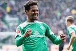 13.04.2019, Weser Stadion, Bremen, GER, 1.FBL, Werder Bremen vs SC Freiburg, <br /> <br /> DFL REGULATIONS PROHIBIT ANY USE OF PHOTOGRAPHS AS IMAGE SEQUENCES AND/OR QUASI-VIDEO.<br /> <br />  im Bild<br /> <br /> 2:0 kopfball Theodor Gebre Selassie (Werder Bremen #23) <br /> <br /> jubel <br /> <br /> Foto © nordphoto / Kokenge