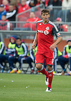 14 April 2012: Toronto FC defender Adrian Cann #12 in action during a game between Chivas USA and Toronto FC at BMO Field in Toronto..Chivas USA won 1-0.