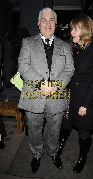 Mitch Winehouse.The Gresham Blake store launch party, Gresham Blake, Commercial St., London, England..January 25th, 2012.full length grey gray suit.CAP/CAN.©Can Nguyen/Capital Pictures.