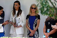 Senior Counselor Kellyanne Conway, center right, listens to United States President Donald J. Trump's remarks before signing H.R. 7010 - PPP Flexibility Act of 2020 in the Rose Garden of the White House in Washington, DC on June 5, 2020. <br /> Credit: Yuri Gripas / Pool via CNP/AdMedia